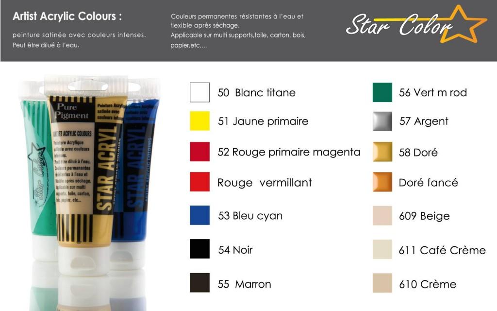 acrylique star color